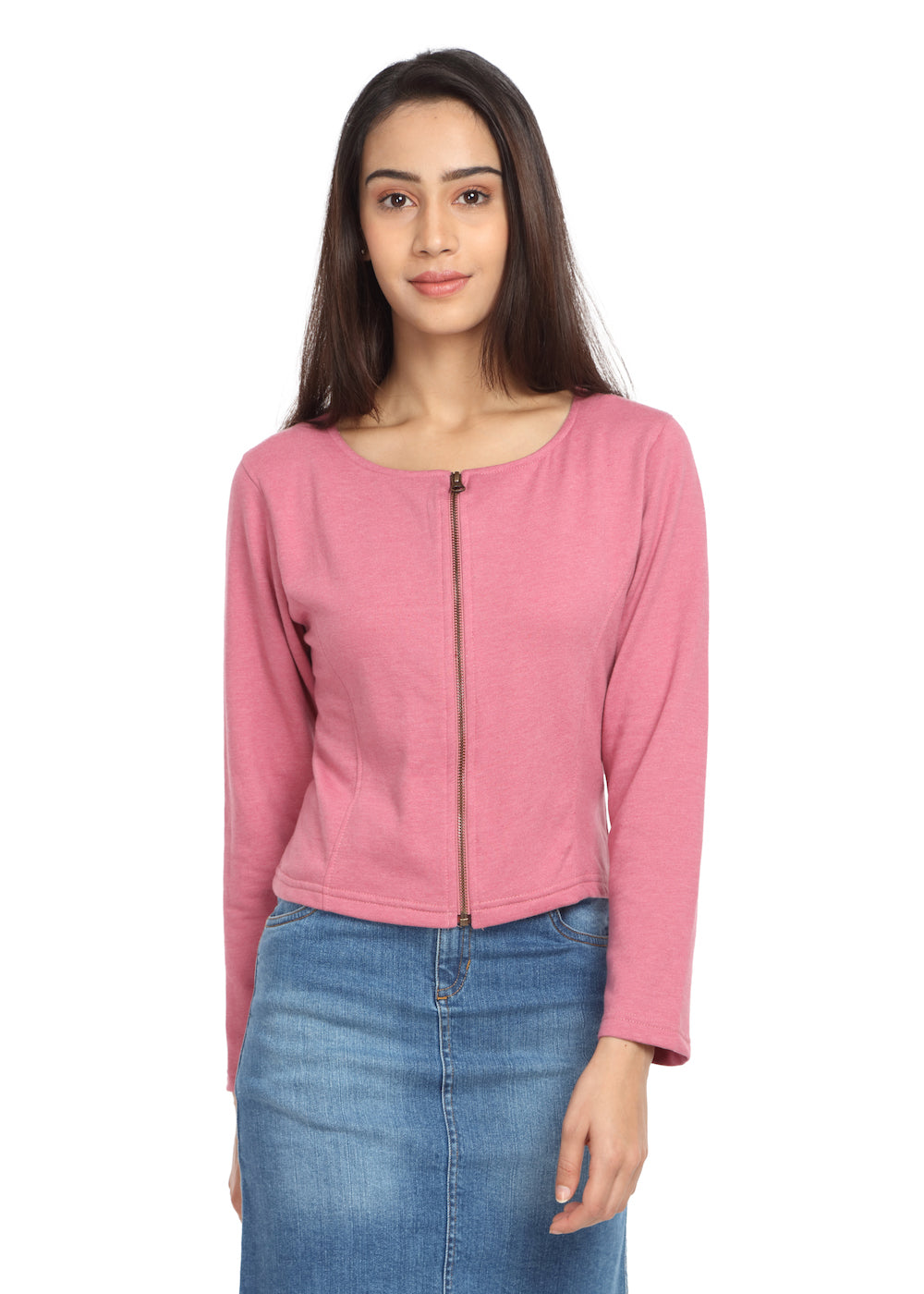 Short Knit Jacket Rose - GENZEE