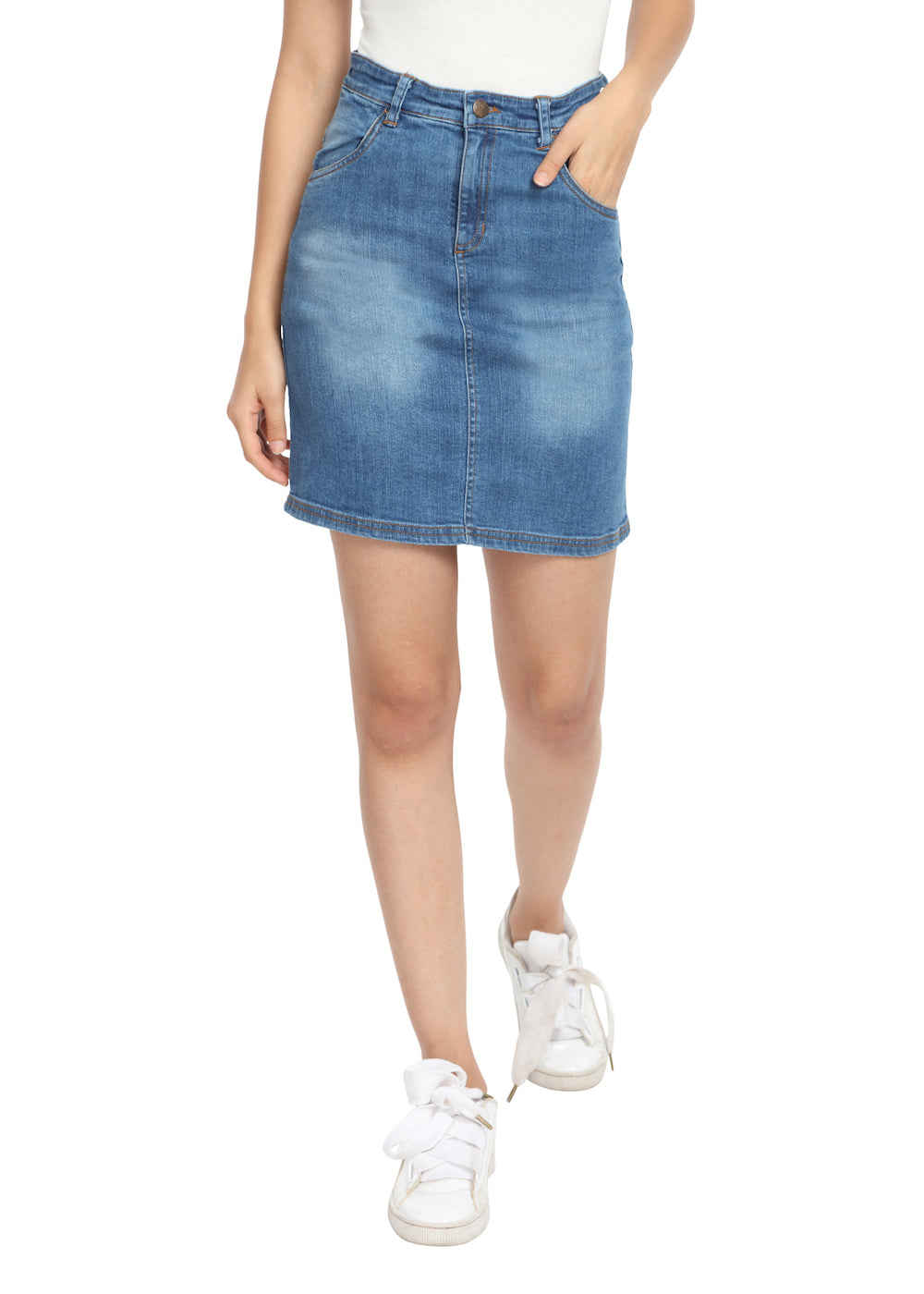Denim Skirt - GENZEE