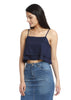 Layered crop top Blue
