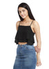 Layered crop top Black