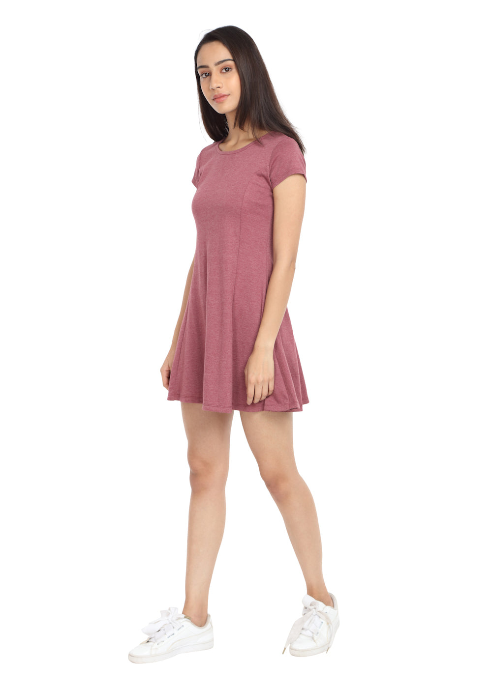 Melange Rose Short Knit Dress - GENZEE