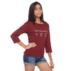 Maroon Long Tee Can't Do Without - GENZEE