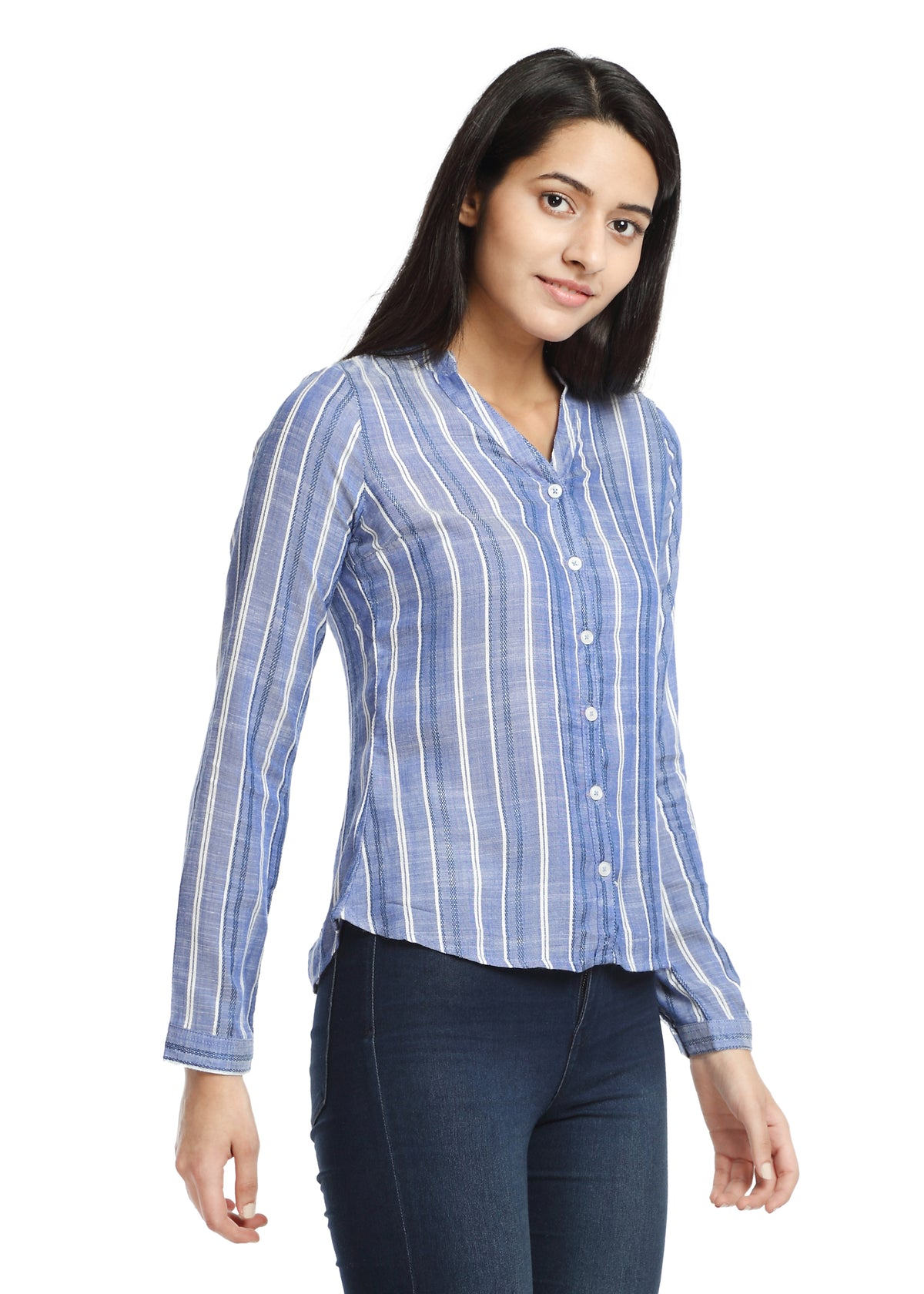 Light Blue Stripes Shirt