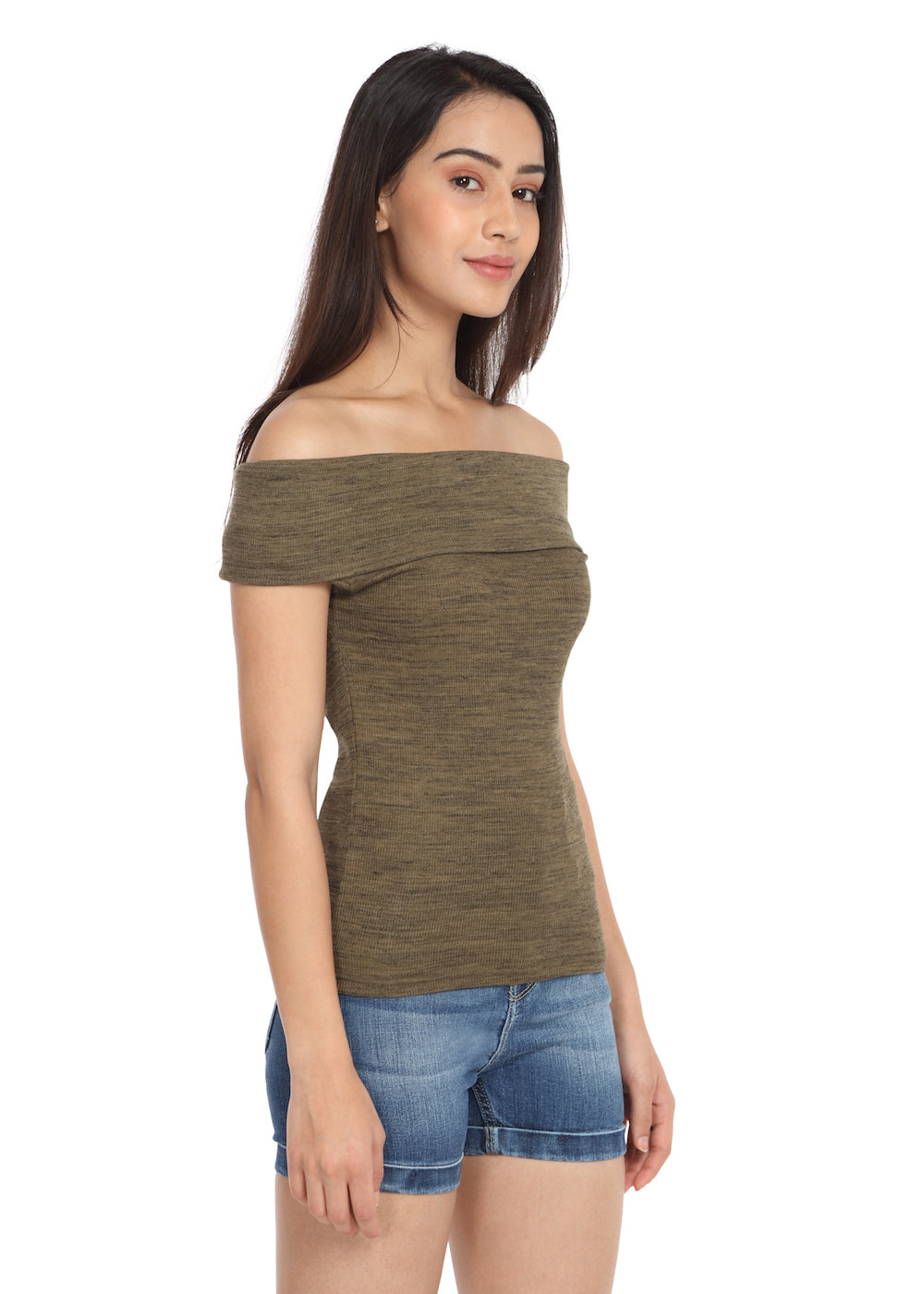 Olive Fold Over Top - GENZEE