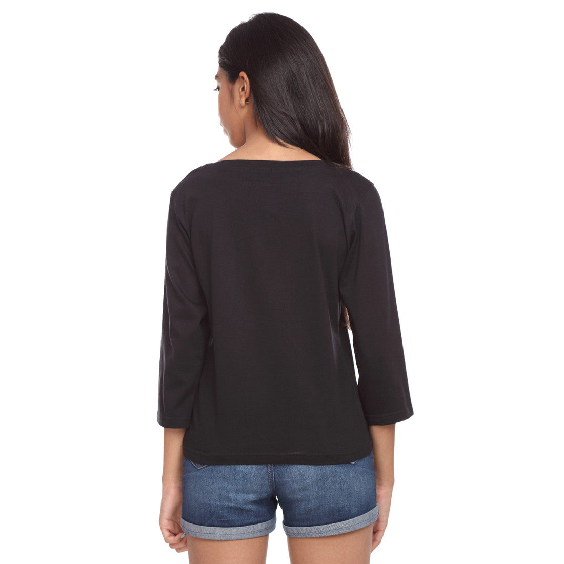 Black Long Tee Can't Do Without - GENZEE