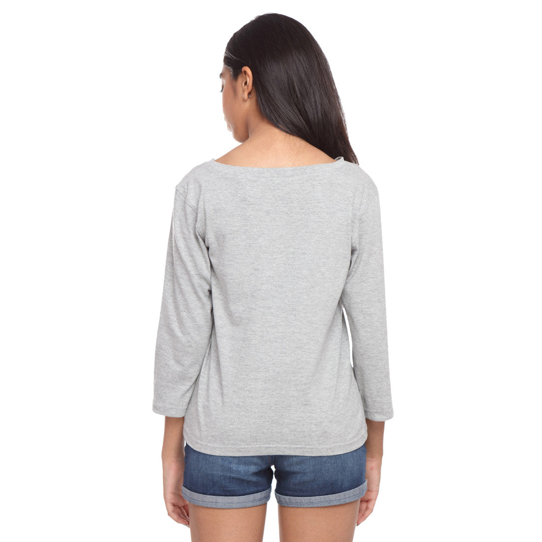 Grey Long Tee Can't Do Without - GENZEE