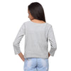 Grey Knit Crop Tee   (Stellar) - GENZEE
