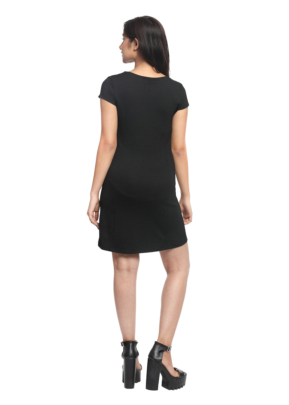 Black Knit Dress - GENZEE