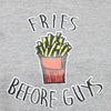 Grey Knit Crop Tee (Fries Before Guys) - GENZEE