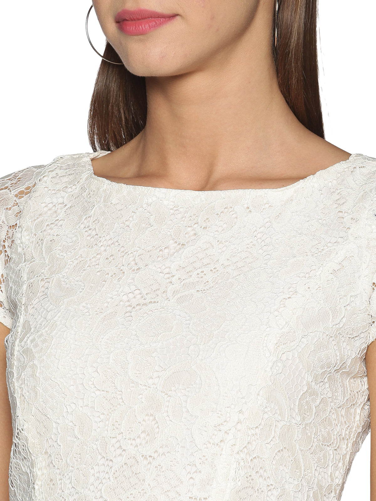 White Net Lace Dress
