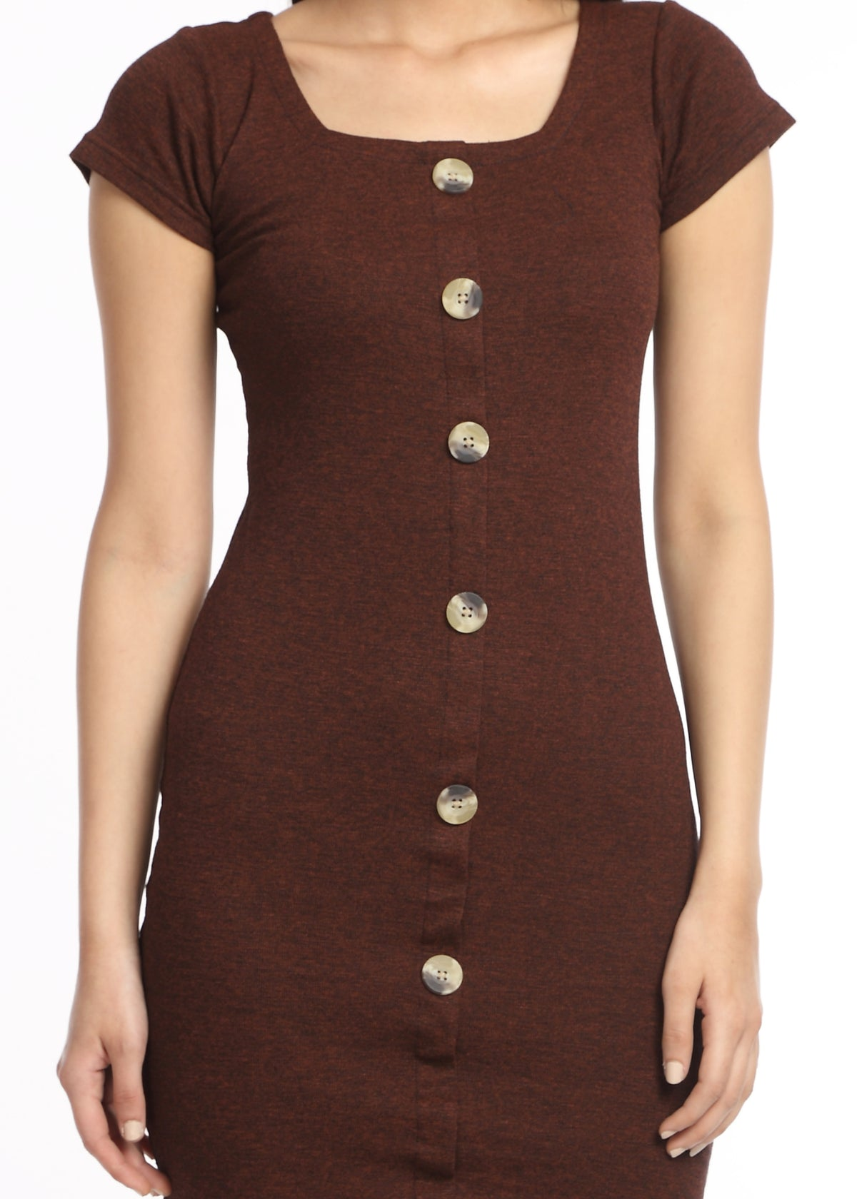 Brown Bodycon Dress