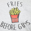 Grey Long Tees , Fries Before Guys - GENZEE