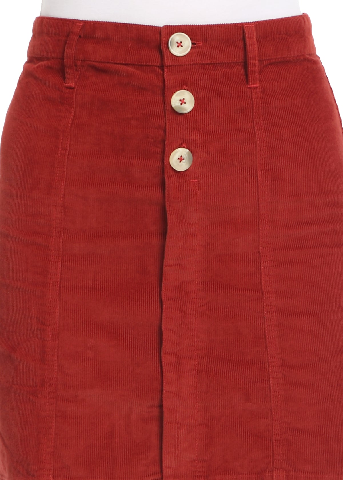 Rust Corduroy Skirt
