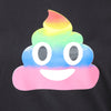 Black Long Tees Rainbow Emoji - GENZEE