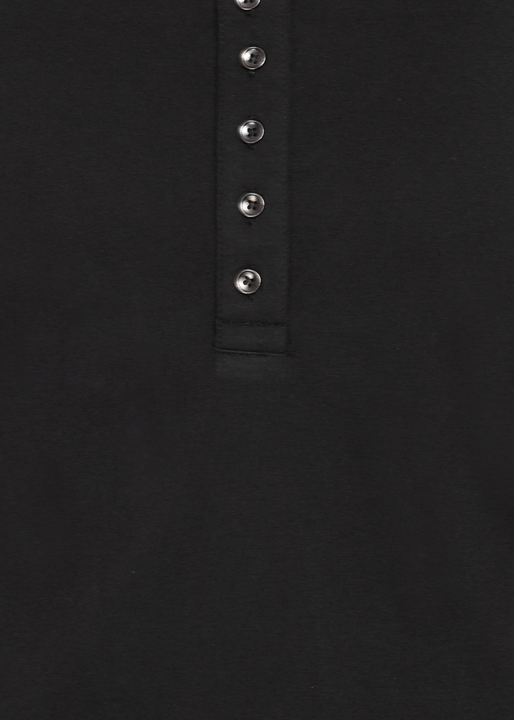 Black Knit Half Sleeves Round Neck Top with Buttons - GENZEE