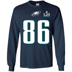 Best Super Bowl Philadelphia Eagles Zach Ertz 86 T Shirt LS Ultra Cotton T-Shirt - teesdiys