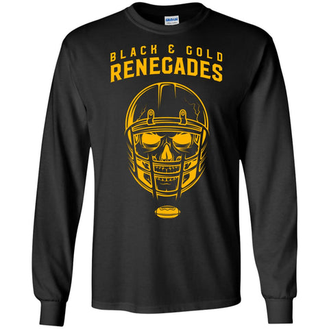 Black And Gold Renegades T-shirt Black / Small G240 Gildan LS Ultra Cotton T-Shirt - teesdiys