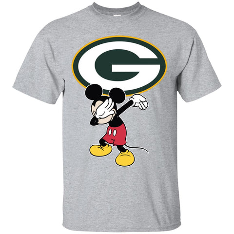 Dabbing Mickey Funny Love Green Bay Packers America Football Men's T-Shirt