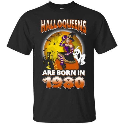 Funny Halloween Halloqueens Are Born In 1980 Men's T-Shirt