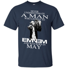 Trending A Man Who Listens To Eminem And Was Born In May G200 Gildan Ultra Cotton T-Shirt - teesdiys
