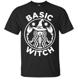 Funny Halloween With Basic Witch Logo Men's T-Shirt
