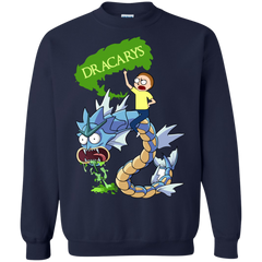 Best Rick And Morty Game Of Thrones Dracarys T Shirt Gildan Crewneck Pullover Sweatshirt 8 oz. - teesdiys