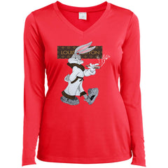 Boss Bug Bunny Lv T-shirt LST353LS Sport-Tek Ladies' LS Performance V-Neck T-Shirt - teesdiys