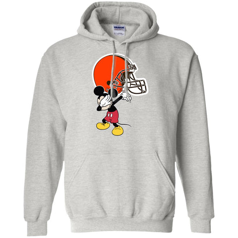Dabbing Mickey Funny Love Cleveland Browns America Football Hoodie