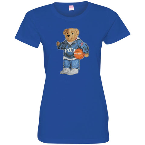 Bigger Bear With Sport Fashion T-shirt Royal / S 3516 LAT Ladies' Fine Jersey T-Shirt - teesdiys