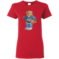 Bigger Bear With Sport Fashion T-shirt G500L Gildan Ladies' 5.3 oz. T-Shirt - teesdiys