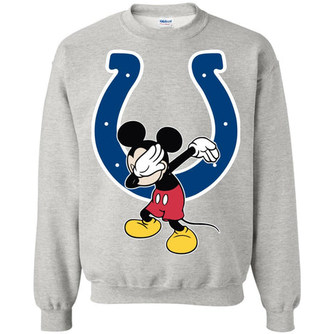 Dabbing Mickey Funny Love Indianapolis Colts America Football Sweatshirt