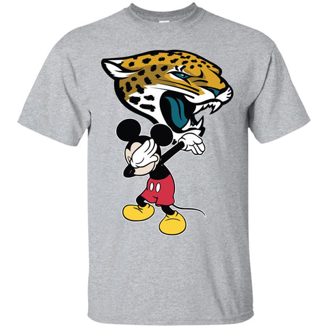 Dabbing Mickey Funny Love Jacksonville Jaguars America Football Men's T-Shirt