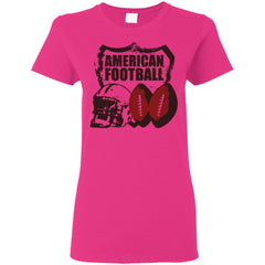 American Football T-shirt - teesdiys G500L Gildan Ladies' 5.3 oz. T-Shirt - teesdiys