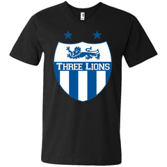 Ancaster Three Lions T-shirt - teesdiys 982 Anvil Men's Printed V-Neck T-Shirt - teesdiys