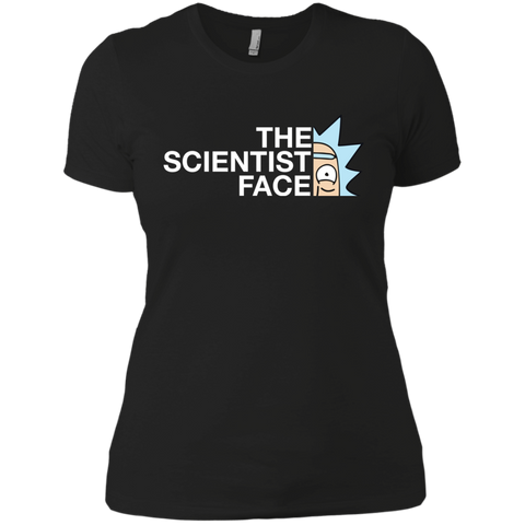 Best Rick And Morty The Scientist Face Rick Funny T Shirt Black / X-Small Next Level Ladies' Boyfriend T-Shirt - teesdiys