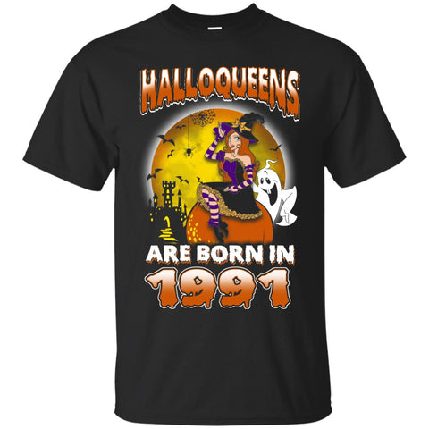 Funny Halloween Halloqueens Are Born In 1991 Men's T-Shirt