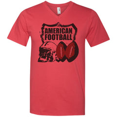American Football T-shirt - teesdiys 982 Anvil Men's Printed V-Neck T-Shirt - teesdiys