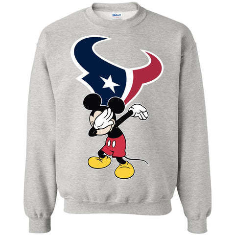 Dabbing Mickey Funny Love Houston Texans America Football Sweatshirt