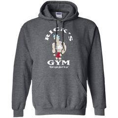 Best Rick And Morty Rick's Gym Gon Give It To Ya T Shirt Top G185 Gildan Pullover Hoodie 8 oz - teesdiys