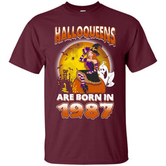 Funny Halloween Halloqueens Are Born In 1987 Men's T-Shirt Men's T-Shirt - teesdiys