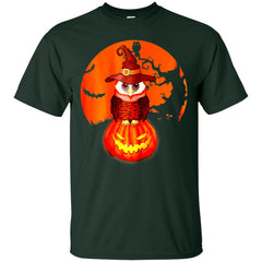 Funny Halloween With Owl Witch And Pumpking In The Red Moon Men's T-Shirt Men's T-Shirt - teesdiys
