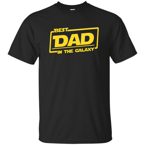 Best Best Dad In The Galaxy Shirt Long Sleeve - teesdiys Black / Small Custom Ultra Cotton T-Shirt - teesdiys