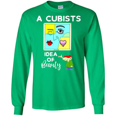 A Cubists Idea Of Beauty T-shirt G240 Gildan LS Ultra Cotton T-Shirt - teesdiys