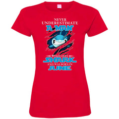 Nerver Underestimate A Man Who Love Shark And Was Born In June Women's T-Shirt Women's T-Shirt - teesdiys