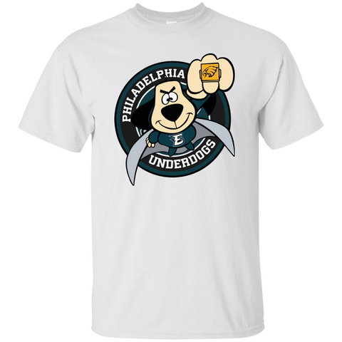 Best Philadelphia Underdogs Philadelphia Eagles Super Bowl T Shirt White / Small Custom Ultra Cotton T-Shirt - teesdiys