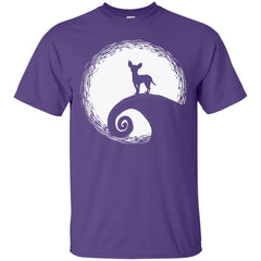 Chihuahua In The Moon Funny Halloween Men's T-Shirt Men's T-Shirt - teesdiys
