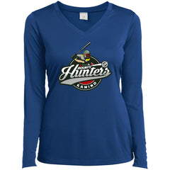 Bounty Hunters Baseball T-shirt LST353LS Sport-Tek Ladies' LS Performance V-Neck T-Shirt - teesdiys
