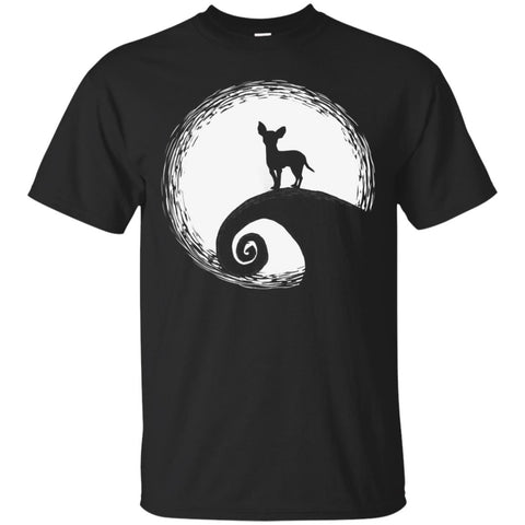Chihuahua In The Moon Funny Halloween Men's T-Shirt Black / S Men's T-Shirt - teesdiys