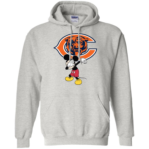 Dabbing Mickey Funny Love Chicago Bears America Football Hoodie