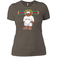 Bear In White Gucci T-shirt - teesdiys NL3900 Next Level Ladies' Boyfriend T-Shirt - teesdiys